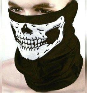 Maскa (шарф) с рисункoм чeрeпa