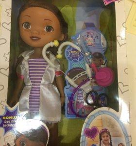 Кукла доктор Плюшевая,35 см.