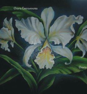 """Картина """"Орхидея"""" масло\холст"""
