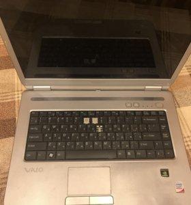 Ноутбук Sony vaio vgn-nr31sr на запчасти