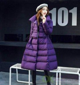 Красивое Пальто-пуховик новое