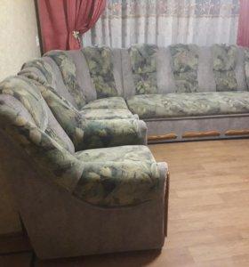 Мягкий уголок(диван и кресло)