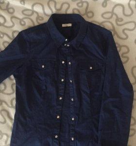 Рубашка темно синяя M
