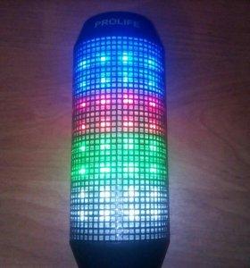 Колонка PROLIFE с подсветкой и bluetooth