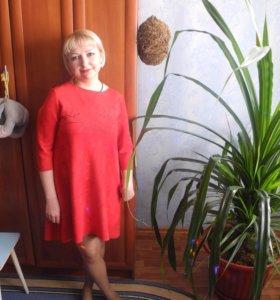 Красное классное платье)