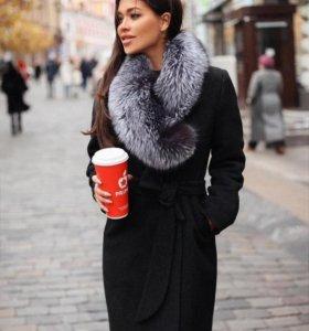 Зимнее женское пальто с мехом. Разные цвета!