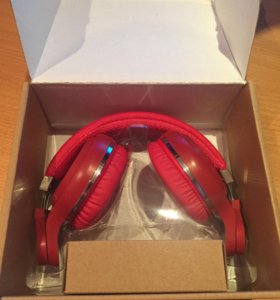 Bluetooth наушники Bluedio T2+ Hurricane red новые