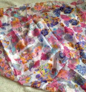 Новый платок из натурального шелка