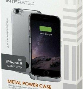 Чехол-аккумулятор InterStep Metal Power для iPhone