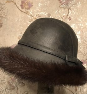Норковая шапка из натуральной ножи