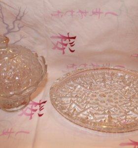 Салатники и конфетницы хрусталь и стекло
