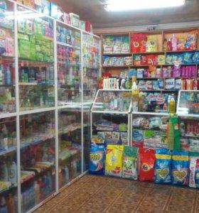 Магазин бытовой химии с товаром