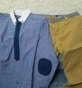 Рубашка и брюки р-р160