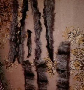 Лоскутки из натурального меха Енота