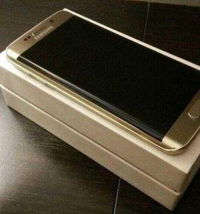 Золотой Samsung Galaxy s7 edge в идеале