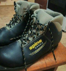 Лыжи классические с ботинками.