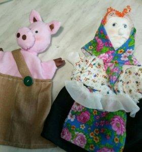 куклы-перчатки ручной работы