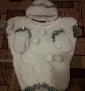 Костюм снеговик самодельный.