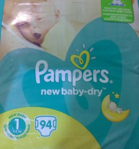 Pampers new baby dry, размер 1, 2-5 кг.