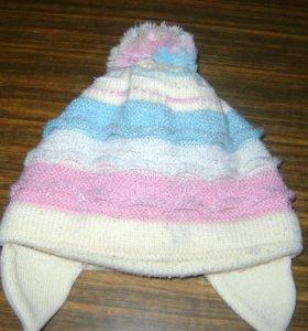 Двойная шапочка на завязках