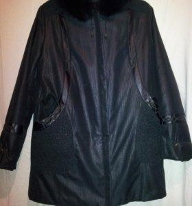 Теплая зимняя куртка с меховой подкладкой