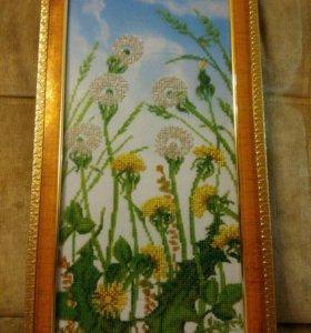 Картина Одуванчики (бисер)