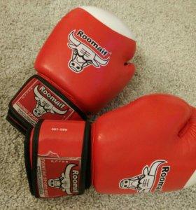 Боксерские перчатки 100% кожа