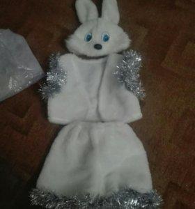 Новогодний костюм зайка