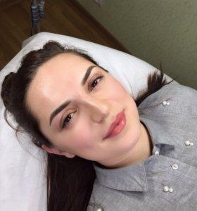 Татуаж (перманентный макияж)в технике Гратаж