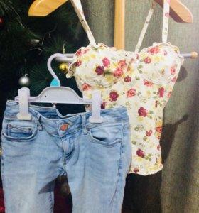 Джинсы,шорты,футболки