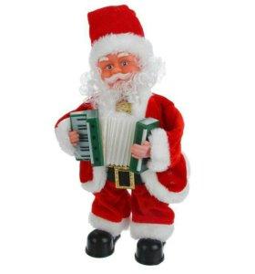 Дед Мороз, с баяном, английская мелодия