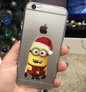 Новогодний чехол iPhone 6,6S