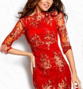 Шикарное платье гепюр