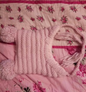 Детская новая теплая зимняя шапка