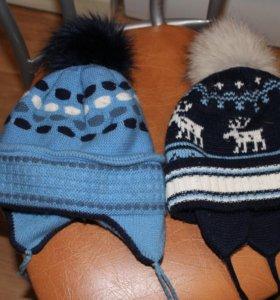 шапки детские на мальчика, 5-6 лет