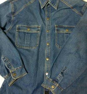 Джинсовая рубашка р.56-58