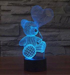 3D ночник светильник