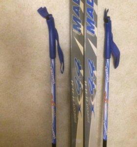 Лыжи беговые madshus комплект