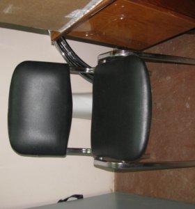 стул хромированный и подставка пятилучье