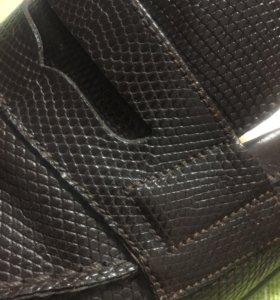 Туфли из натуральной кожи крокодила б/у