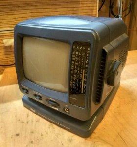 Телевизор- радио чёрно-белый переносной Vitek