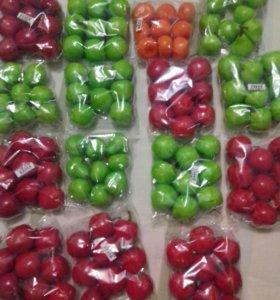 Искусственные фрукты для рукоделия