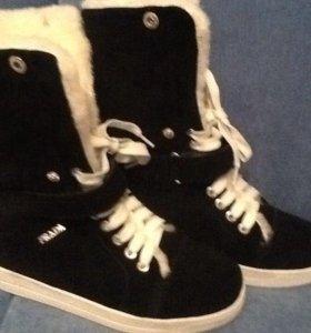 Натуральная замша ботинки брэнд Prada
