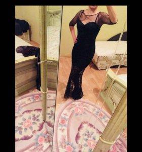 новое платье чёрное в пол
