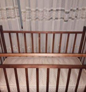 """Кровать детская """"Золушка"""" с матрасом"""