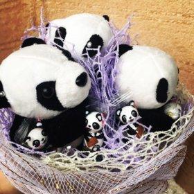 Букетик мишки панды 🐼 с конфетами