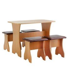 Стол обеденный + 4 стула