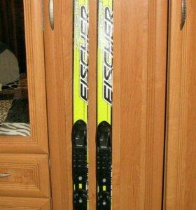 """Лыжный комплект """"Fischer""""(лыжи+крепления)"""