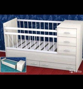 Детская кроватка трансформер