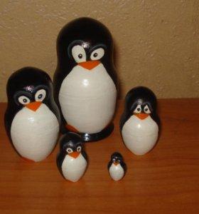 """Матрешка """"Пингвин"""""""